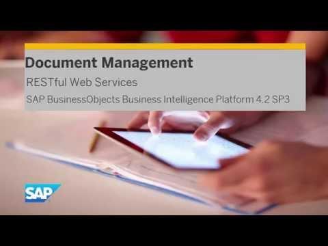 RESTful Web Services Document Management: SAP