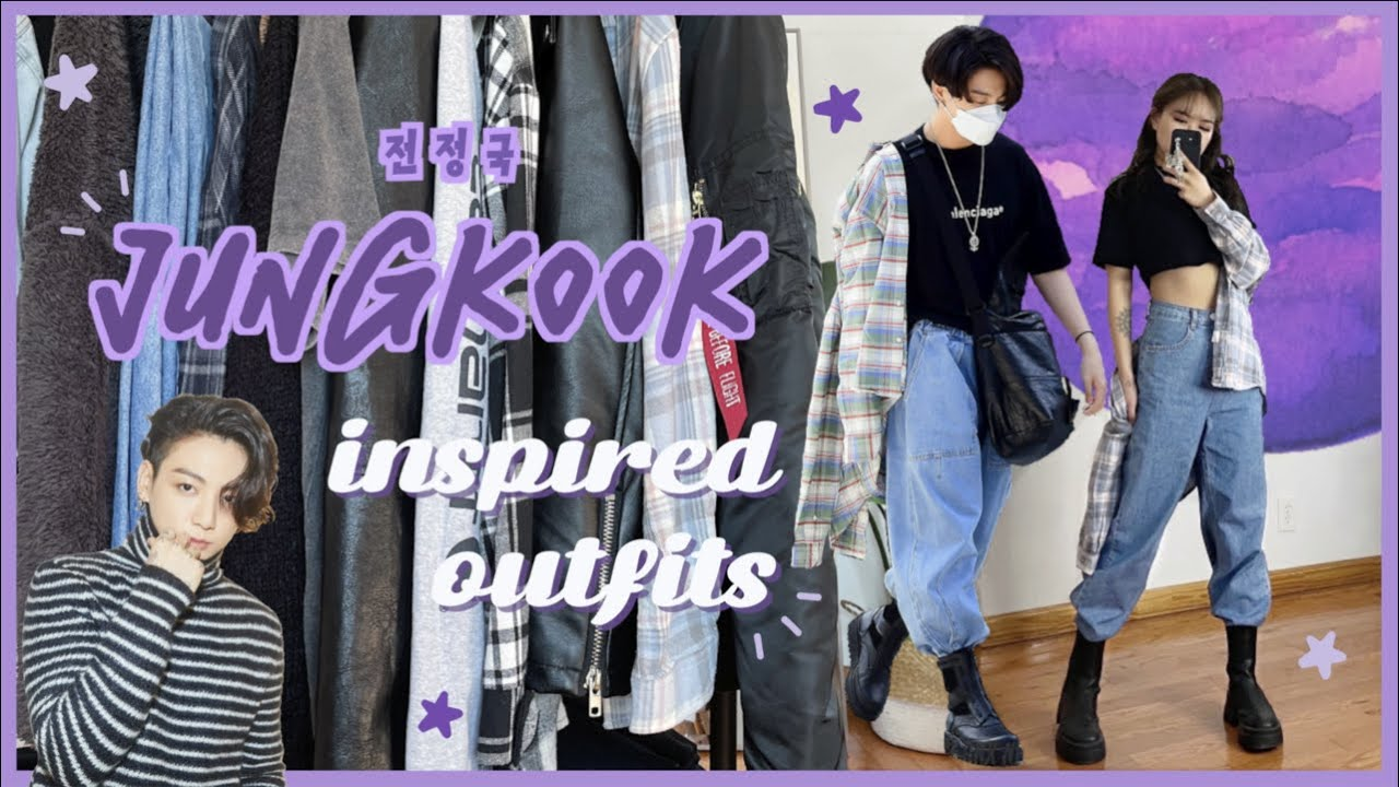 DRESSING LIKE JUNGKOOK FOR A WEEK // INSPIRED OUTFITS