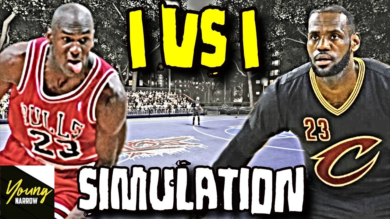 59d3696a22d LEBRON JAMES VS. MICHAEL JORDAN 1 VS. 1 SIMULATION ON NBA 2K18!! WHO IS THE  REAL GOAT !
