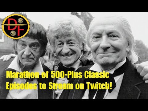 DOCTOR WHO NEWS - Marathon of 500-Plus Classic Episodes to Stream on Twitch!