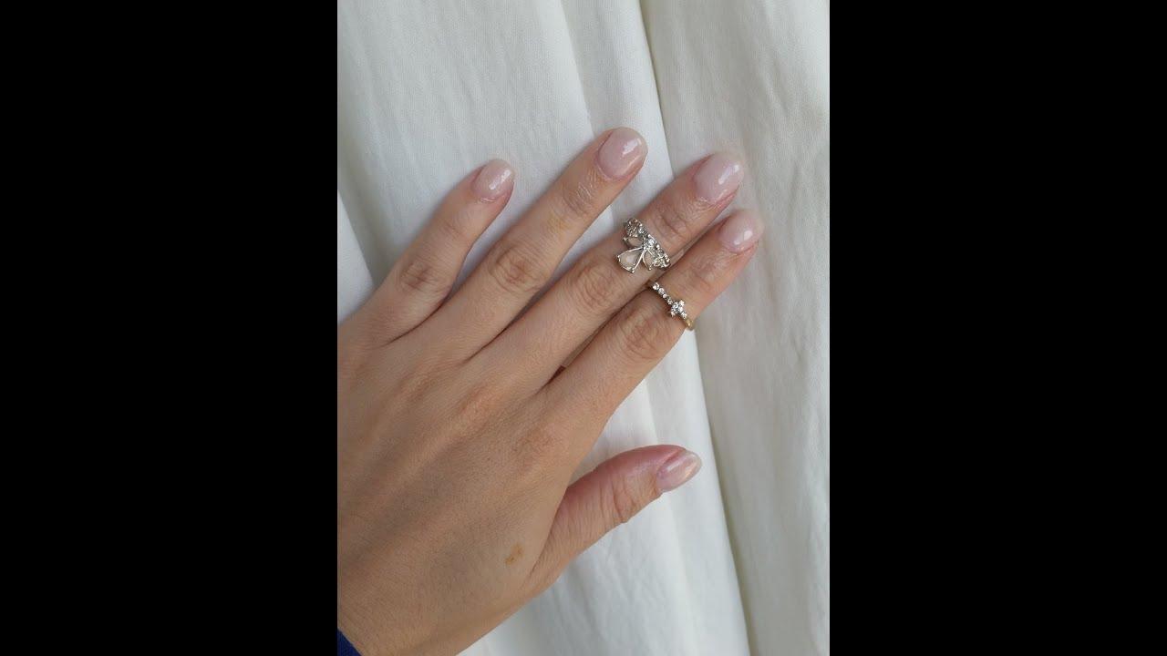 ♥ Acrylic Dip Natural Overlay Nails ♥ - YouTube