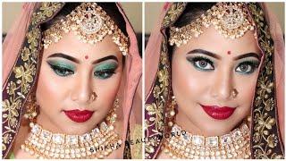 Indian Bridal Makeup| दुल्हन का मेकअप कैसे करें।Step by step Bridal makeup(Hindi)