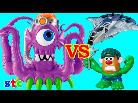 Imaginext Tentaclor El Pulpo Morado vs Hulk