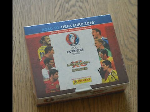 box 1 panini xl road to uefa euro 2016 unboxing box cze 4 youtube. Black Bedroom Furniture Sets. Home Design Ideas