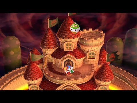 New Super Mario Bros U - All Final Castles (3 Player)