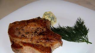 Корейка на кости. Стейк. Жаренное мясо. мясо в духовке.Кулинарный батл.
