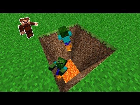 ARDA ZOMBİLERİ TUZAĞA DÜŞÜRÜYOR! 😱 - Minecraft thumbnail