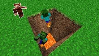 ARDA ZOMBİLERİ TUZAĞA DÜŞÜRÜYOR! 😱 - Minecraft