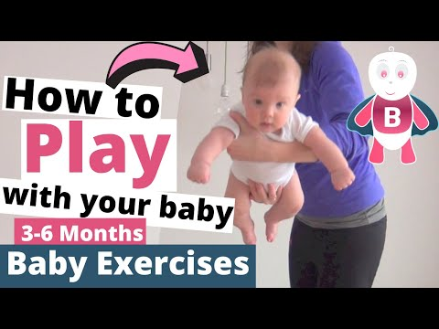 Baby Playtime Exercises #0-3 Months - Super Baby - Baby Activities, Baby Development