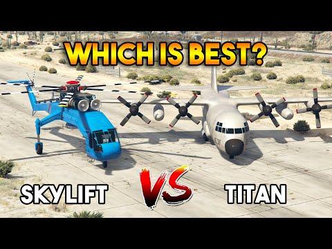 GTA 5 ONLINE : TITAN VS SKYLIFT (WHICH IS BEST?)