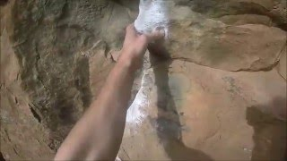 Tenerife Climbing, trying Route Paranoia, Guaria