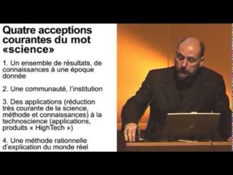 1/2 Histoire générale des sciences : Les sciences, représentations, objectifs et rôles