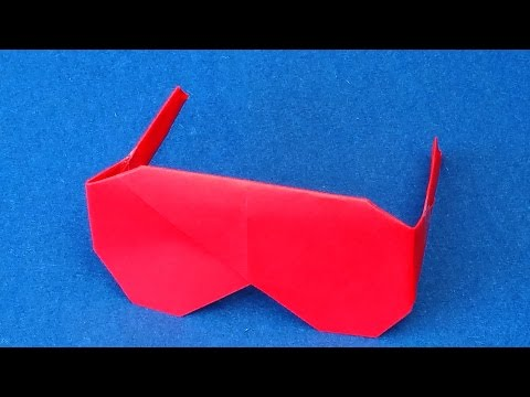 Origami Sunglasses for Her.  How to fold Origami Sunglasses for Girls