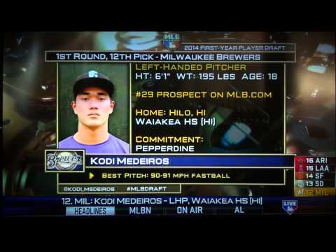 2014 MLB Draft Kodi Medeiros