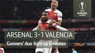 Arsenal vs Valencia (3-1) | UEFA Europa League Highlights