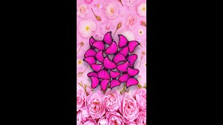 Pink Roses And Butterflies Live Wallpaper [Samsung Themes-Animations] screenshot 1