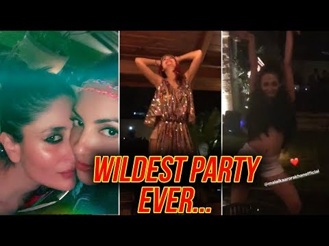 Malaika Arora, Kareena Kapoor DRUNK DANCE, Wild Party VIDEOS   Amrita Arora Birthday Goa Birthday
