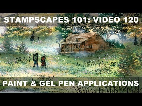 Stampscapes 101: Video 120.  Paint and gel pen applications.  (From Scrap and Stamp Arts magazine)