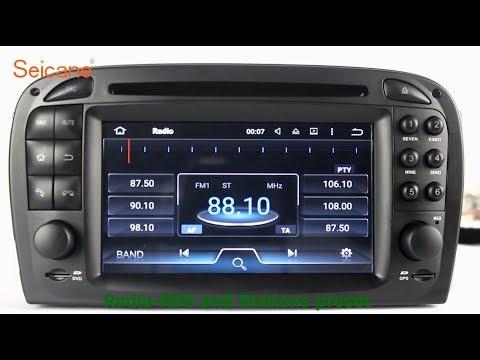 OEM 2001-2004 Benz SL SL350 SL500 SL55 SL600 SL65 Radio DVD GPS Navigation  Player Stereo Upgrade