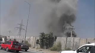 آتشسوزی در ذخیرهگاه وزارت دفاع ملی