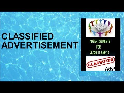 CLASSIFIED ADVERTISEMENT