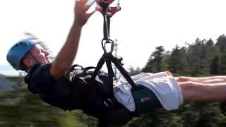 Fastest Zipline In The World 80MPH