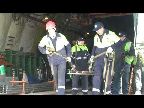 Verladung von 100 Tonnen Fracht in Antonow