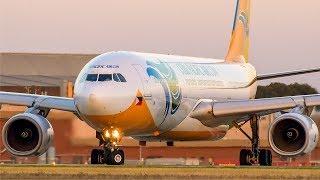 SUPER Cebu Pacific Air Landing & Take off   Melbourne Airport Plane Spotting