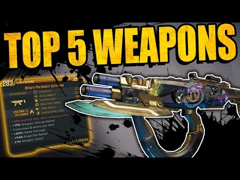 Borderlands 3: TOP 5 OVER POWERED WEAPONS From Main Missions - 5 Must Haves For Completing Story
