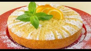 Апельсиновый пирог! Очень вкусный и ароматный! Простой и быстрый рецепт.