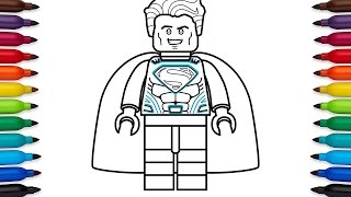 How to draw Lego Superman - coloring pages