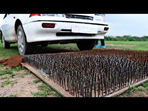 Car Vs 4000 Nails - Experiment