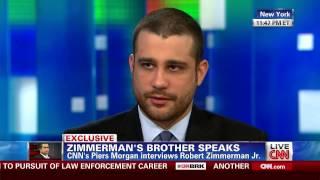 Robert Zimmerman Jr - Exclusive Interview With Piers Morgan - 7/13/2013
