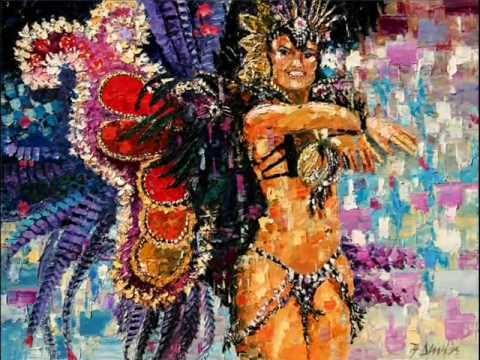 dluhos fine art rio samba carnaval paintings youtube. Black Bedroom Furniture Sets. Home Design Ideas