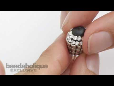 How to Make a Crystal Encrusted Charm by Becky Nunn