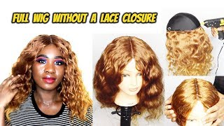 HOW TO MAKE A WIG WITHOUT A FRONTAL (VERY DETAILED) ft Mama by Alice| Hot Glue Method