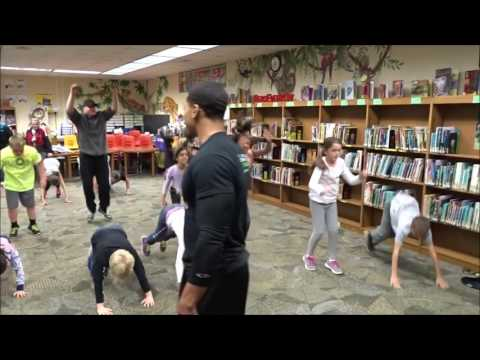 Josh Bailey Trains for Jacobs Road Elementary School Family Fitness Night 2016-17
