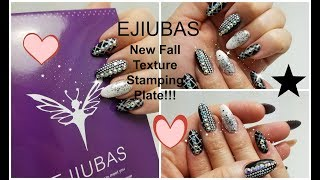 Ejiubas New Fall Texture and Deeva Fairy Stamping Plates Review