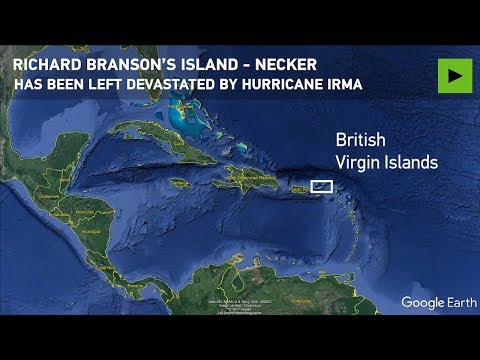 Richard Branson's private island destroyed by Hurricane Irma
