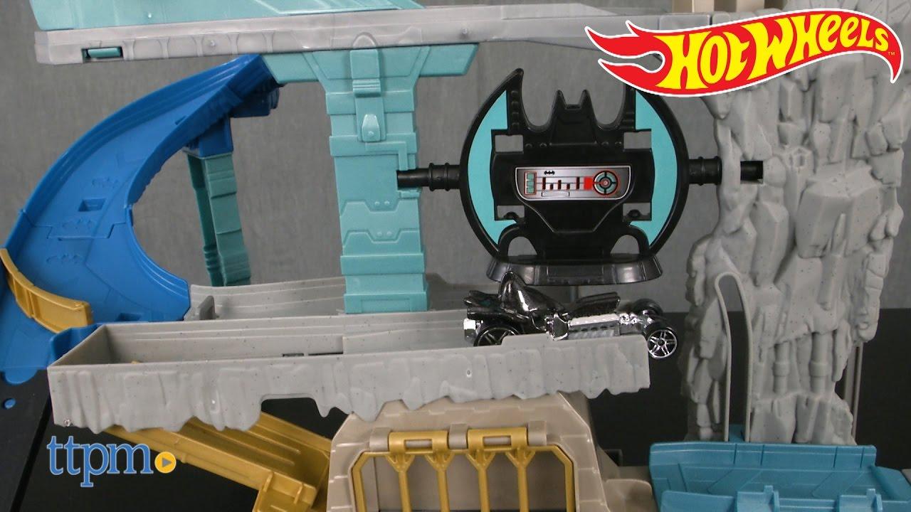 51c3f928a49d Hot Wheels DC Comics Batcave from Mattel - YouTube