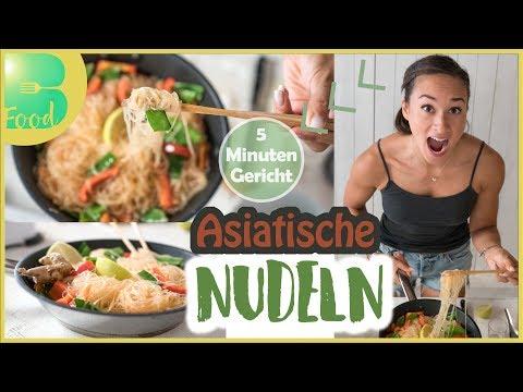thai-curry-nudeln---vegane-nudelpfanne---5-minuten-rezept---schnell-und-gesund-kochen