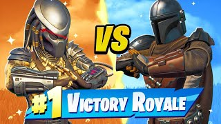 BOSS PREDATOR vs BOSS MANDALORIAN in Fortnite!