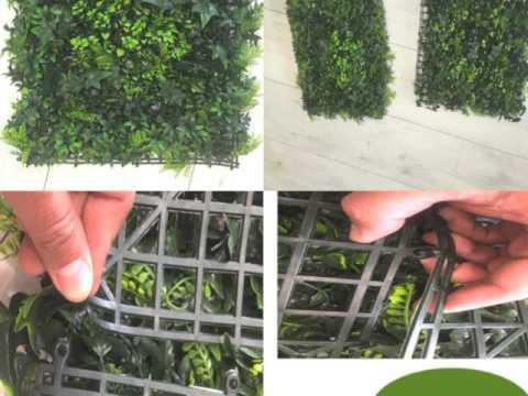 Muro verde de follaje artificial youtube - Como hacer un muro verde ...