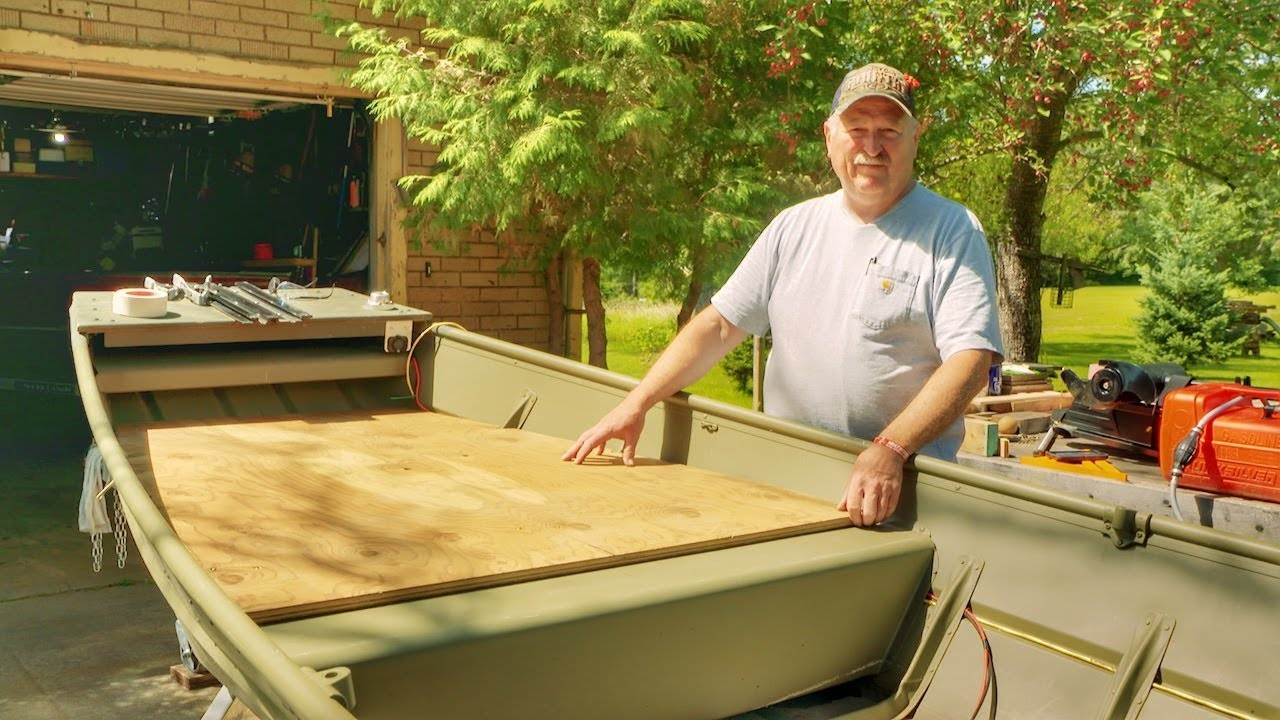 How to Build a Custom Jon Boat Casting Deck - YouTube