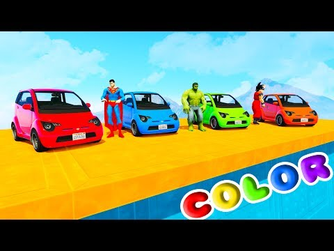 Thumbnail: FUN LEARN COLORS COMPACT CARS w/ SUPERHEROES For Kids 3D Animation for Babies