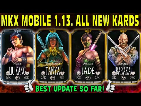 MKX Mobile 1.13 update. ALL 4 NEW CHARACTERS GAMEPLAY + Quick Review! BARAKA AND JADE!