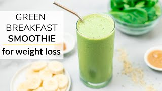 This green breakfast smoothie is simple, nutritious and so delicious! it's a great way to start your day can help support health weight loss goa...