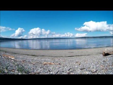 Most beautiful Puget Sound Beach Skyline Views (Time lapse), Camano Island, WA