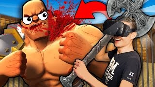 BATTLING GLADIATORS WITH NEW AXE IN VIRTUAL REALITY! (GORN VR HTC Vive Gameplay)