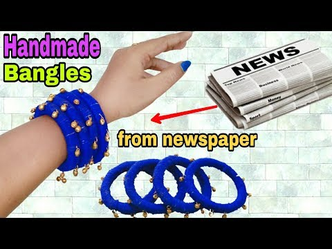 DIY Jewellery|Handmade Jewellery making|Newspaper Bangles|ArtHolic KM